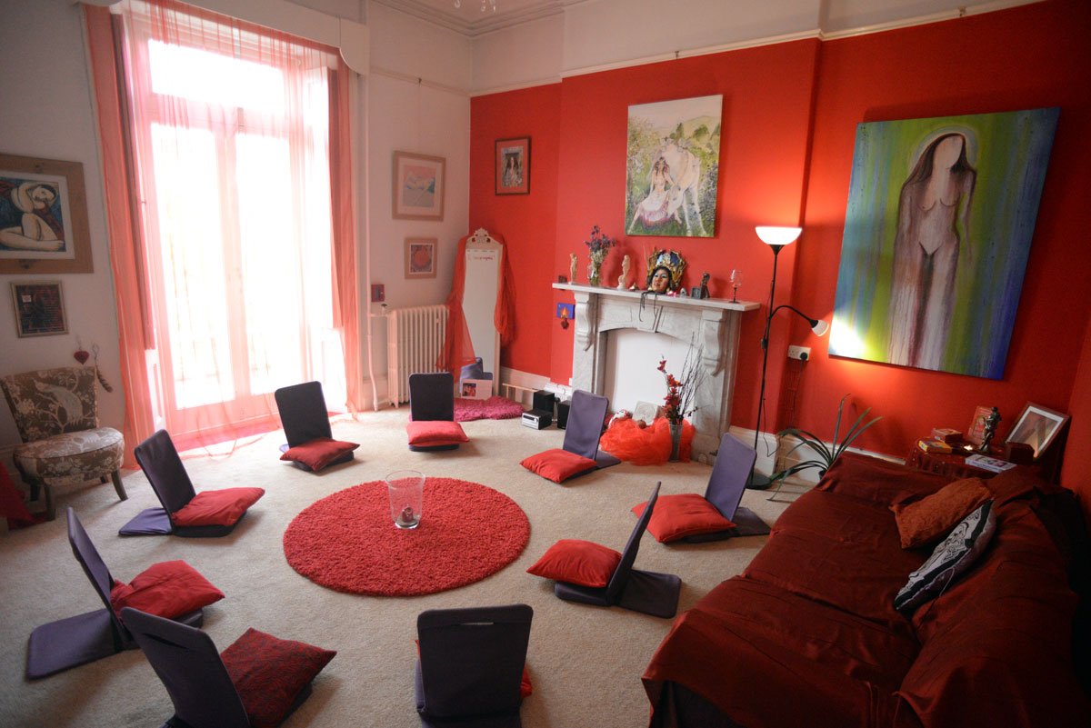 The Rhiannon Room in Goddess House